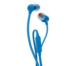 JBL T110 PureBass słuchawki dokanałowe niebieskie  (T110BLU)