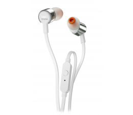 JBL T210 PureBass słuchawki dokanałowe biało-srebrne (T210WS)