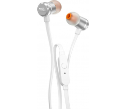 JBL T290 PureBass słuchawki dokanałowe biało-srebrne  (T290WS)