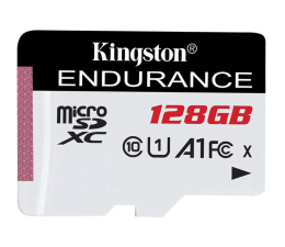 Kingston 128GB High Endurance 95/45 MB/s (odczyt/zapis)  (SDCE/128GB)