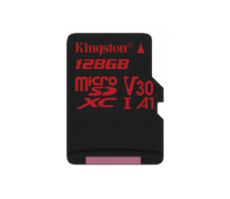 Kingston 128GB microSDXC Canvas React 100MB/s UHS-I V30 A1 (SDCR/128GB)