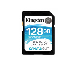 Kingston 128GB SDXC Canvas Go! 90MB/s C10 UHS-I U3  (SDG/128GB)