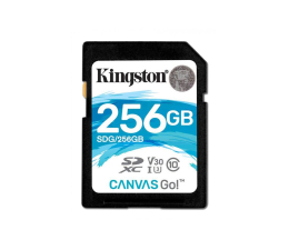 Kingston 256GB SDXC Canvas Go! 90MB/s C10 UHS-I U3  (SDG/256GB)