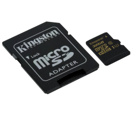 Kingston 32GB microSDHC Class10 zapis 45MB/s odczyt 90MB/s (SDCA10/32GB)