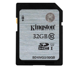 Kingston 32GB SDXC UHS-I Class 10 45MB/s  (SD10VG2/32GB)