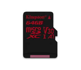 Kingston 64GB microSDXC Canvas React 100MB/s UHS-I V30 A1 (SDCR/64GB)