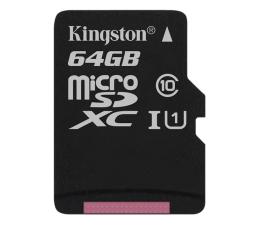 Kingston 64GB microSDXC Class10 zapis 10MB/s odczyt 45MB/s (SDC10G2/64GB)