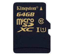 Kingston 64GB microSDXC Class10 zapis 45MB/s odczyt 90MB/s (SDCA10/64GB)