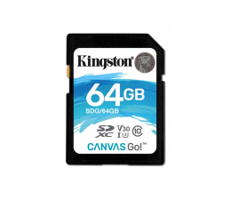 Kingston 64GB SDXC Canvas Go! 90MB/s C10 UHS-I U3  (SDG/64GB )