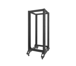 "Lanberg Stojąca 19"" 27U 600x800mm Open Rack (czarna)  (OR01-6827-B )"