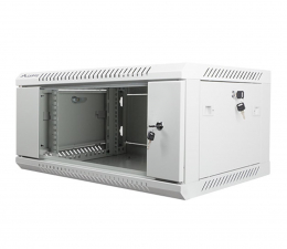 """Lanberg Wisząca 19"""" 4U 600x450mm jednosekcyjna (szara)  (WF01-6404-10S)"""