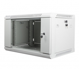 """Lanberg Wisząca 19"""" 6U 600x450mm jednosekcyjna (szara)  (WF01-6406-10S)"""
