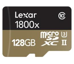 Lexar 128GB microSDXC 1800x 270MB/s +czytnikUSB +adapter (LSDMI128CRBEU1800R)