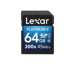 Lexar 64GB 300x SDXC Premium II C10 U1  (LSD64GBBEU300)