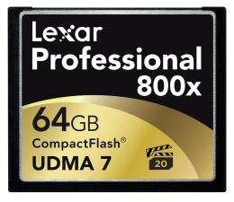 Lexar 64GB 800x Compact Flash Professional (LCF64GCRBEU800)