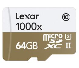 Lexar 64GB microSDXC 1000x 150MB/s + czytnik USB 3.0 (LSDMI64GCBEU1000R)