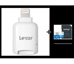 Lexar Czytnik microSD Lightning + 64GB microSDXC 300x (LRWMLBEU + LSDMI64GB1EU300A)