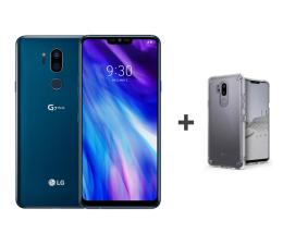 LG G7 ThinQ niebieski + etui Ringke Fusion Clear (G710EM BLUE+etui)