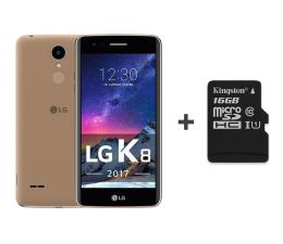 LG K8 2017 LTE Dual SIM złoty + 16GB (M200E GOLD+16GB)