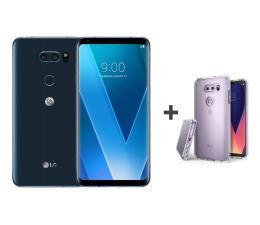 LG V30 niebieski + etui Ringke Fusion Crystal View (H930 BLUE+etui)