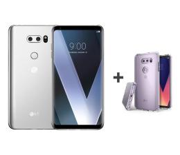 LG V30 srebrny + etui Ringke Fusion Crystal View  (H930 SILVER+etui)