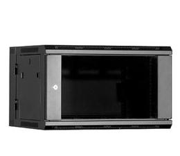 """Linkbasic Wisząca 19"""" 6U 600x550mm dwusekcyjna (czarna)  (WCC06-655-BAA-C)"""