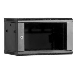 Linkbasic Wisząca 6U 600x450mm (drzwi szklane) czarna (WCB06-645-BAA-C)