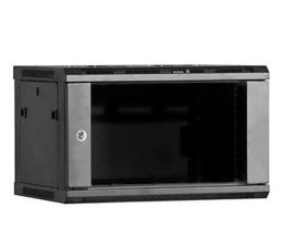 Linkbasic Wisząca 6U 600x600mm (drzwi szklane) czarna  (WCB06-66-BAA-C)