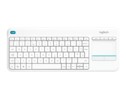 Logitech Wireless Touch K400 Plus biała (920-007146)