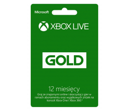 Microsoft Abonament Xbox Live GOLD 12 miesięcy (S4T-00026)