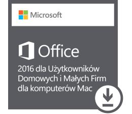 Microsoft Office 2016 Użytk. Domowych i Małych Firm Mac ESD (W6F-00627)