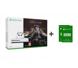 Microsoft Xbox One S 1TB Shadow Of War + GOLD 6M (234-00189)