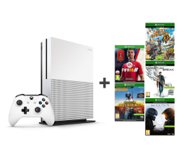 Microsoft Xbox ONE S 1TB+PUBG+Quantum Break+SO+FIFA18+Halo 5