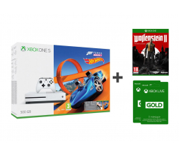 Microsoft Xbox One S 500GB Forza H3+Wolfenstein II+ GOLD 6M (ZQ9-00211)