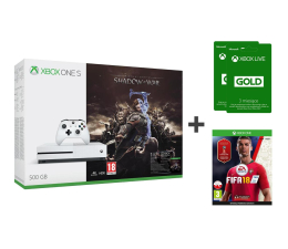 Microsoft Xbox One S 500GB Shadow of War+FIFA 18+6M GOLD (ZQ9-00165    )