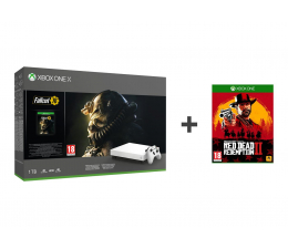 Microsoft Xbox One X 1TB + Fallout 76 +Red Dead Redemption 2