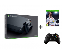 Microsoft Xbox One X 1TB + Kontroler + FIFA 18 (CYV-00010 )