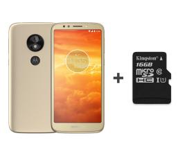 Motorola Moto E5 Play 16GB Dual SIM złoty + 16GB (PACR0000PL + SDCS/16GB)