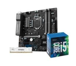 MSI B250M BAZOOKA OPT + i5-7400 + Crucial 8GB 2400MHz (369055 + 340960 + 339374)