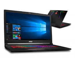 MSI GE73 i7-8750H/16GB/1TB+256/Win10 GTX1060 120Hz  (Raider   GE73 8RE-002PL)