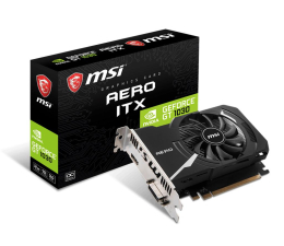 MSI GeForce GT 1030 AERO ITX 2GD4 OC 2GB DDR4 (GT 1030 AERO ITX 2GD4 OC)