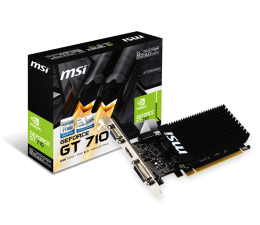 MSI GeForce GT 710 Low Profile 2GB DDR3 (GT 710 2GD3H LP)