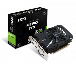 MSI GeForce GTX 1050 Ti AERO ITX 4G OCV1 (GTX 1050 Ti AERO ITX 4G OCV1)