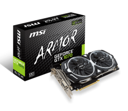 MSI GeForce GTX 1070 ARMOR 8GB OC GDDR5