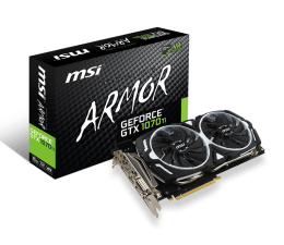 MSI GeForce GTX 1070 Ti ARMOR 8GB GDDR5 (GeForce GTX 1070 Ti ARMOR 8G)