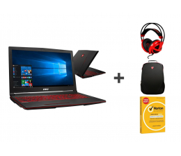 MSI GL63 i5/16GB/240+1TB/Win10X GTX1050 + Zestaw  (GL63 8RC-834XPL-240SSD M.2 + Zestaw)