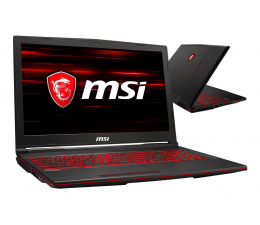 MSI GL63 i7-8750H/32GB/120+1TB GTX1660Ti  (GL63 8SD-647XPL-120SSD M.2)