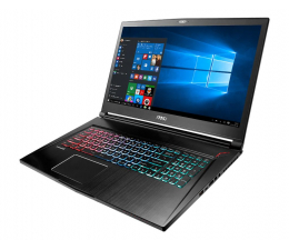 MSI GS73 i7/16/1TB+128PCIe/Win10 GTX1050Ti 120Hz (GS73 7RE-012PL)