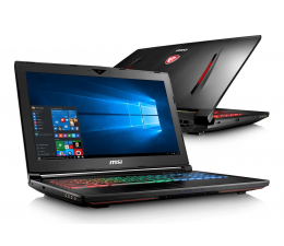 MSI GT62VR i7-7700HQ/16/1TB+256/Win10 GTX1060 120Hz (Dominator Pro | GT62VR 7RD-422PL)