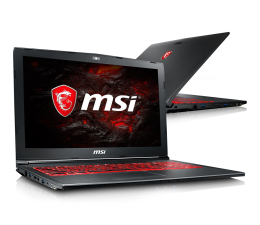 MSI GV62 i5-7300HQ/16GB/1TB GTX1050Ti  (GV62 7RE-1891XPL)